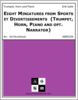 Eight Miniatures from Sports et Divertissements  (Trumpet, Horn, Piano and opt. Narrator)