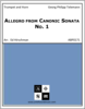 Allegro from Canonic Sonata No. 1