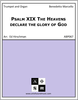Psalm XIX The Heavens declare the glory of God