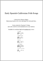 Early Spanish-Californian Folk-Songs (low voice)