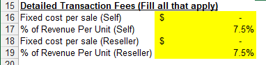 Detailed Transaction Fees