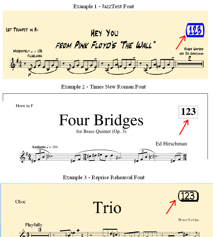 Sibelius plug-in software stamp samples