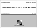 Happy Birthday Fanfare for 9 Trumpets