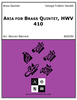 Aria for Brass Quintet, HWV 410