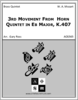 3rd Movement From  Horn Quintet in Eb Major, K.407