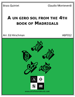A un giro sol from the 4th book of Madrigals