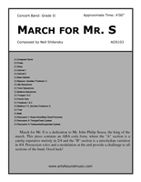 March for Mr. S.