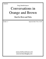 Conversation in Orange and Brown (Horn and Tuba)