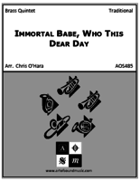 Immortal Babe, Who This Dear Day