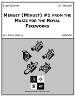 Menuet (Minuet) #1 from the Music for the Royal Fireworks