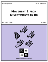Movement 1 from Divertimento in Bb
